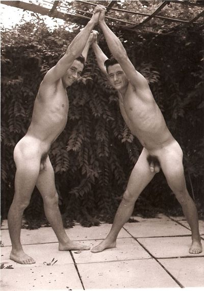 Brothers in Arms: vintage nude male wrestlers