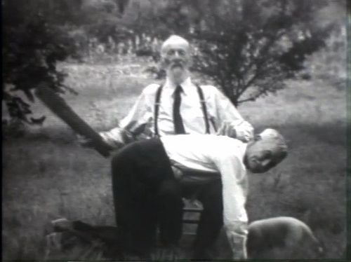 Old man spanking