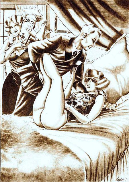 Enema Erotica (illustration by Carlo). Erotic-art-unknown-artist-2725